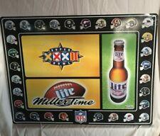 1998 Miller Lite Beer Nfl Super Bowl sign - Large & Beautiful!