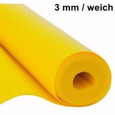 Filz Taschenfilz Basteln 0,5lfm Meterware 3mm stark 1,5m breit weich soft Gelb