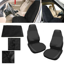 Universal car van Waterproof Nylon Front Black Protectors seat covers UK Seller