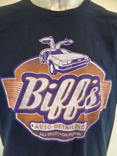 Biff's Auto Detailing Hill Valley California Back To The Future Large T Shirt