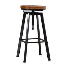 Levede Industrial Wooden Bar Stools - Brown/Black