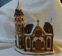 Lefton Trinity Church 1998 Colonial Christmas Village 1574/5500 DEED BOX C2