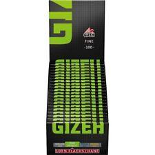 GIZEH Black Fine Magnet Grün 20x 100 Blatt Papers Blättchen Zigarettenpapier BOX