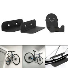 3pcs Bike Bicycle Cycling Pedal Tire Wall Mount Storage Hanger Stand Rack Black