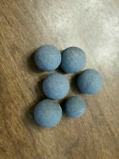 6 Blue Clay Marbles