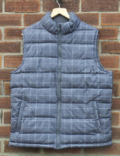 Men's GAP Gilet Grey Check Large RRP £36.99