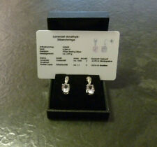 Silberohrringe Juwelo Lavendel-Amethyst + Topas 925er Sterling Silber Ohrringe