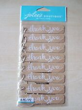 NEW-JOLEE'S/JOLEES BOUTIQUE-LARGE - KRAFT THANK YOU TAGS - 8 PIECES
