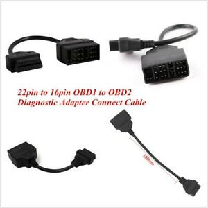 22 Pin to 16 Pin OBD1 to OBD2 Diagnostic Adapter Connect Cable For Toyota Lexus