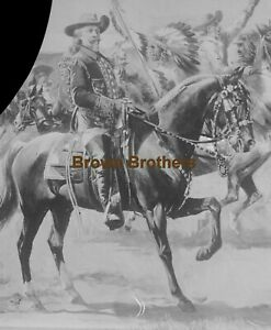 1890-1910s Buffalo Bill Cody Wild West Show Glass Photo Negatives (2