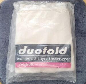 Duofold Womens 2 Layer Pant Underwear Size Medium White Brand New Sealed