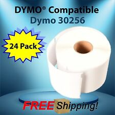 300 Labels Per Roll Dymo® Compatible 30256 TURBO 24 Roll Direct Thermal BPA Free