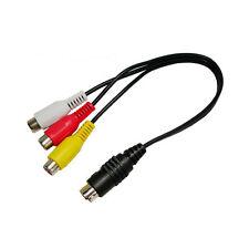 4 polos S Vídeo Conector a 3x RCA Enchufe (RCA) Adaptador Convertidor Longitud: