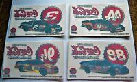 11 Nascar Coca Cola Racing Team Stickers - Petty, Elliott, Jarrett, Earnhardt