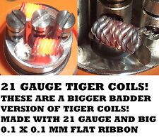 RDA 8 X TIGER COILS - EXTREME VERSION - 21 GAUGE WITH BIG RIBBON - BULLET PROOF!