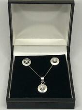 Vintage Diamante Colgante de oro 9ct & pendiente conjunto que empareja