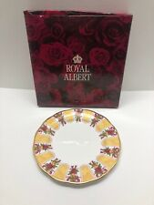 Rare Royal Albert Old Country Roses Ruby Celebration Gold Damask Salad Plate 8""