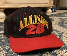 Vintage 1990s DAVEY ALLISON #28 NASCAR RACING RACE CAR DRIVER SNAPBACK HAT CAP