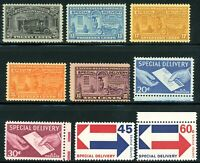 USAstamps Unused VF US Special Delivery Set Scott E15 - E23 OG Mint