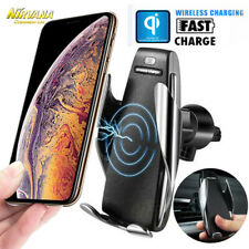 Auto Clamping 10W QI Wireless Charger Car Mount Hold  For iPhone Samsung Huawei