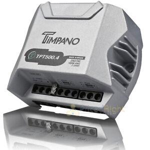 Timpano 4 Channel Amplifier 500 Watts Max 2 Ohm Digital Car Audio Amp TPT-500.4