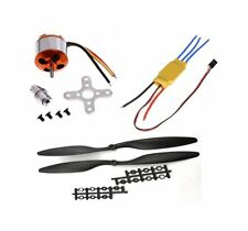 Brushless Motor + 30A ESC+ 1set Propeller Combo Kit for Quadcopter F450, drone