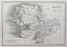 1841 Antique Map; County Mayo, Ireland - Henry Adlard