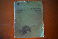 John Deere 6600 & 7700 Combine Operator's Manual OM-H84020 *FREE SHIPPING*