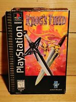 King's Field Playstation Rare Longbox Video Game Asciiware 3D RPG Tested