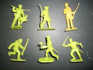 Lot of 54mm plastic Early Settler Western figures by Marx