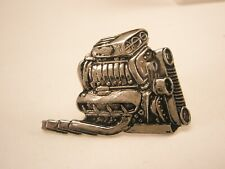 -Turbo Charged V8 Combustion Engine Vintage Tie Tack Lapel Pin ford chevy dodge