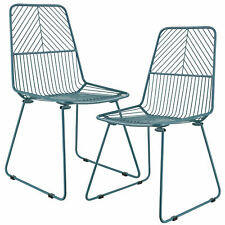 [en.casa] Dining Chair Design Metal Chair Set of 2 Pieces 92 x 47.5 cm Turquoise