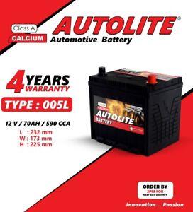 AUTOLITE BATTERY TYPE 005L 12V  70AH Heavy Duty Car Battery 4 year warranty