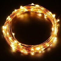Battery Operated 20/40/50 LED Filament Fairy Lights Christmas String Waterproof