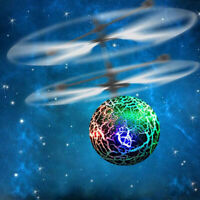 KE_ Hand Flying UFO Helicopter Ball Toy LED Hovering Saucer Infrared Sensor Fl