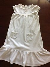 10 White Olive Juice Cotton Beach Dress Cap Sleeves Bottom Ruffle