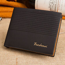Hot Fashion Men's Vintage Faux Leather Bifold Purse ID Card Holder Clutch Wallet