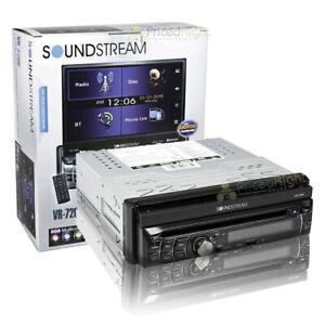 "Soundstream 7"" Single DIN Flip UP Receiver DVD CD MP3 Bluetooth 300W 4Ch VR-720B"