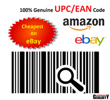 Barcodes EAN 13 UPC barcode bar code Numbers for Amazon & eBay 100 Codes