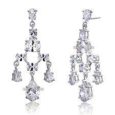 Rhodium Plated Pear Butterfly Costume Earrings