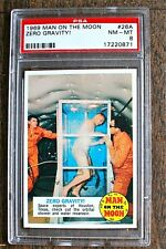 1969 Topps #26A  Man on the Moon ZERO GRAVITY !  PSA 8  TOUGH Nice!