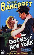 THE DOCKS OF NEW YORK Movie POSTER 27x40 George Bancroft Betty Compson Olga