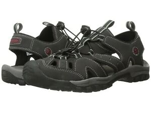 Northside Burke II Men' s Outdoor Sandals  Bungee Cord Lace Black/Red Size 10 D