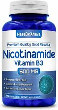 Nicotinamide 500mg Vitamin B3 - Anti Aging DNA Repair, Skin Cell Health & Energ