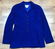 Escada Margaretha Ley Blazer Jacket Vintage Blue 38 UK 12