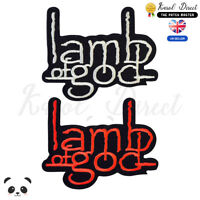 Lamb of God Music Band Embroidered Iron On /Sew On Patch Badge For Clothes etc