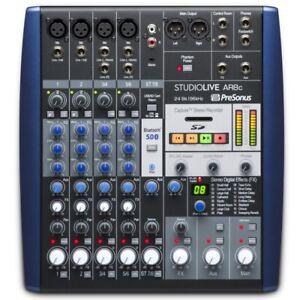 PRESONUS STUDIOLIVE AR8c Portable Audio Interface SD Recording Mixer & Software