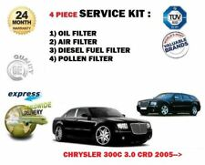 FOR CHRYSLER 300C 3.0 CRD 2005-> SERVICE KIT OIL AIR FUEL POLLEN FILTER (4)