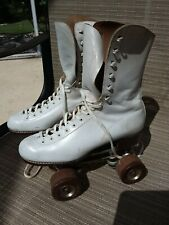 Riedell Red Wing Roller Skates Rare 192 Boot Cleveland Plates Fo-Mac Wheels 5.5