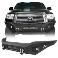 Full Width Steel Front Bumper w/ Skid Plate & LED Light fit 07-13 Toyota Tundra
